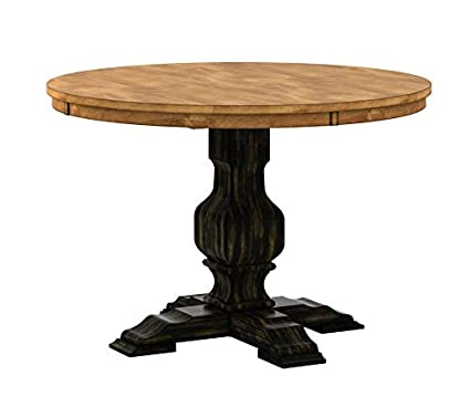 Image Unavailable Not Available For Color Wood Pedestal Base Dining Table