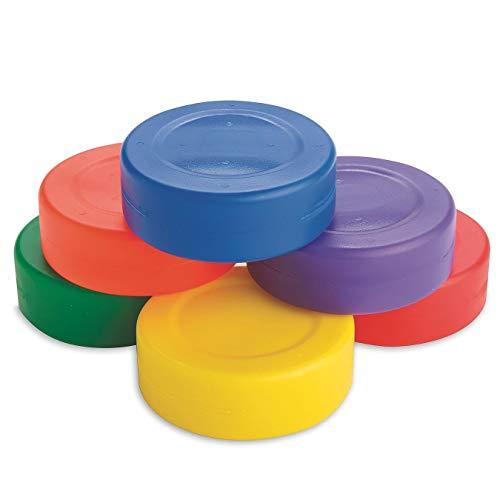 Spectrum Lightweight Hollow Plastic Floor Hockey Pucks (Set of 6)