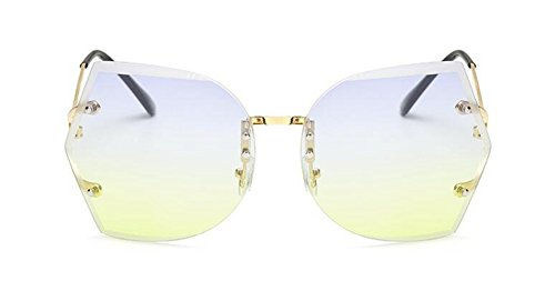 inspirées polarisées retro en du cercle Lennon métallique Bleu soleil lunettes Vert rond vintage style Sous de CqntAWE