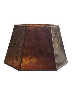 Upgradelights Amber Mica 18 Inch Hex Floor Lampshade 12x18x11 ()