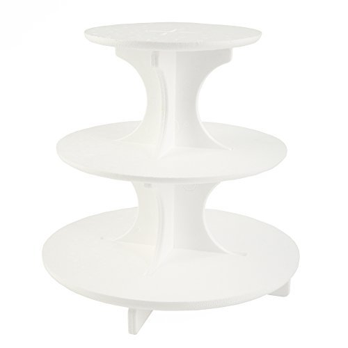 Bakery Crafts Styrofoam 3-Tier Round Cupcake Stand Treat Tree