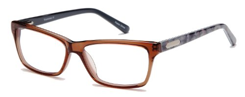 Womens Elegante Prescription Glasses Frames 53-14-140-33 in Brown Crystal