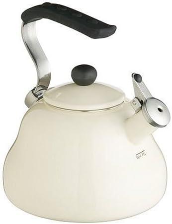Kitchencraft le'xpress 2 L crème émail sifflement bouilloire-Induction safe
