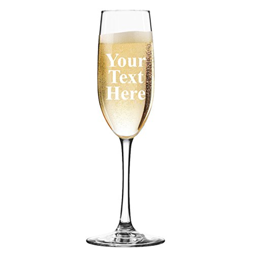 Custom Personalized Champagne Flute - Engraved With Your Text -