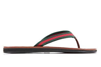9053f7ab9 Gucci women s leather flip flops sandals brown UK size 3.5 258310H9VG08451