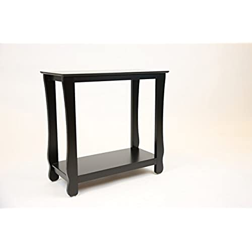 Pearington Fully Assembled Thick Leg Side End Table, Black Finish