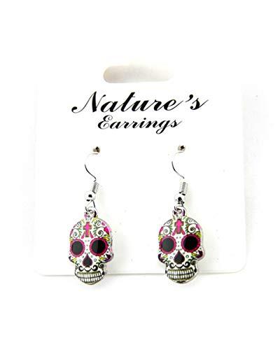 (Sugar Skull Earrings For Women Skull Accessories Skull Jewelry Gifts (Skull)