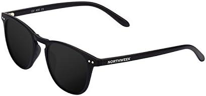 Northweek Wall All Black - Gafas de Sol para Hombre y Mujer, Polarizadas, Negro