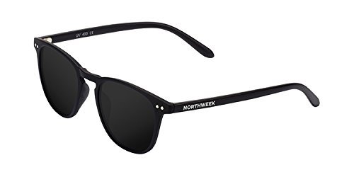 Northweek Wall All Black Gafas de sol, Negro (Matte Black/Black Polarized), 45