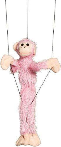 Sunny Toys Fuzzy Pink Monkey Marionette