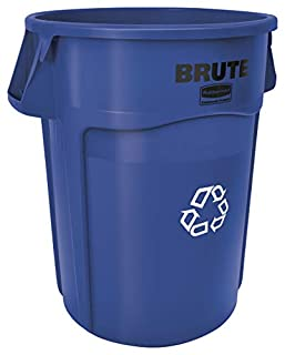 Rubbermaid Commercial FG264307BLUE Brute Plastic 44-Gallon Vented Recycling Container, Round Blue (B005KDARN2) | Amazon price tracker / tracking, Amazon price history charts, Amazon price watches, Amazon price drop alerts