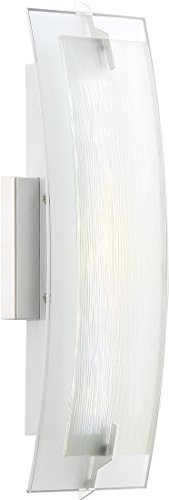 Quoizel PCSM8505C Stream Platinum Frosted Glass LED Wall Sconce Lighting, 1-Light, 8 Watt, Polished Chrome (16
