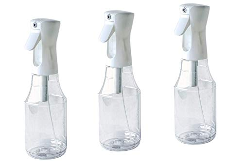The Bucko 3x24 Ounce Large Flairosol Fine Mist Spray Bottles, Misting Bottle, 700 Milliliter Empty Reusable Stylist Sprayer