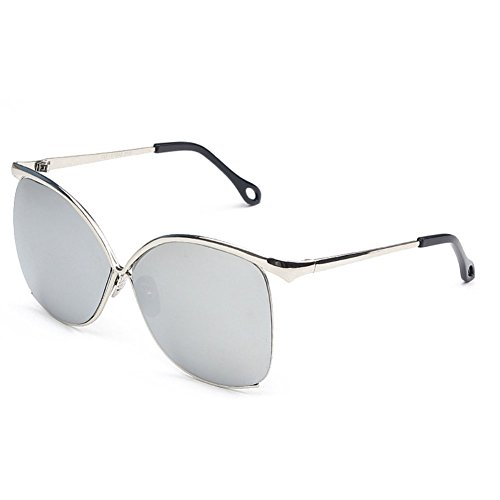 Sinkfish SG80055 Sunglasses for Women,Anti-UV & Fashion - UV400/Azure Frames/Aliceblue Lens (Hat Prada Designer)