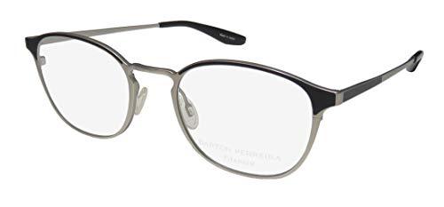 Barton Perreira Zalon Womens/Ladies Designer Full-rim Titanium Light Weight Eyeglasses/Eye Glasses (50-20-148, Brushed ()