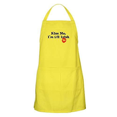 CafePress Kiss Me, I'm Half Irish BBQ Apron Kitchen Apron with Pockets, Grilling Apron, Baking Apron