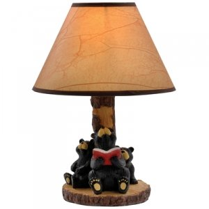 Catalina 3 Bears Sitting Table Lamp - Black