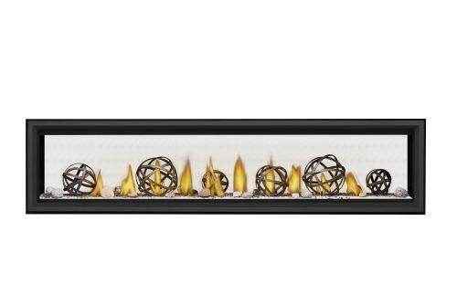 Vector LV74 Direct Vent See-Thru Gas Fireplace Package4 - NG