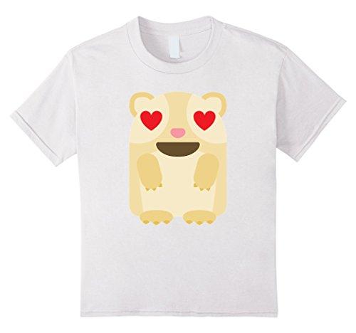Kids Guinea Pig Emoji Heart & Love Eye Shirt T-Shirt Hamster Tee 10 White (Cute Candy Corn Costumes)