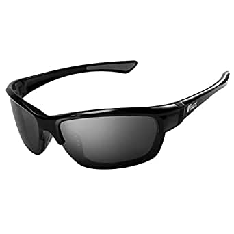 Flux Polarized Sports Sunglasses with Anti-Slip Function and Light Frame - for Men and Women when Driving Running Baseball Golf Casual Sports and Activities: CA155