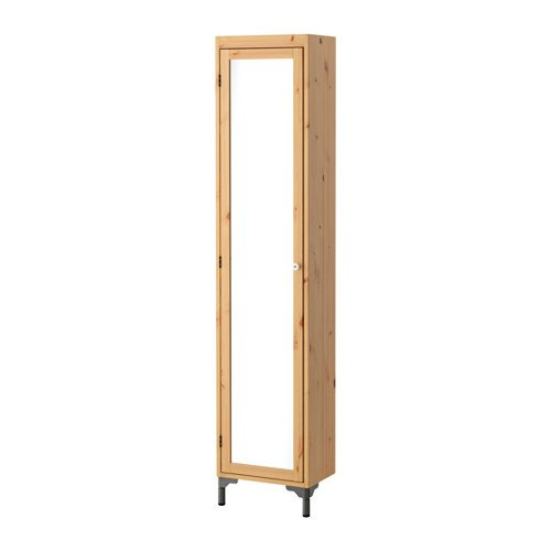 Ikea High cabinet with mirror door, light brown 40x25x184 cm by ikeaa