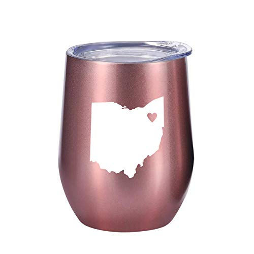 Ohio Gifts Wine, Coffee and All Drinks Tumbler 12oz - Unique Ohio Themed Gift for Decor, Home Souvenirs, State of Ohio, Women by Tough Tumblers
