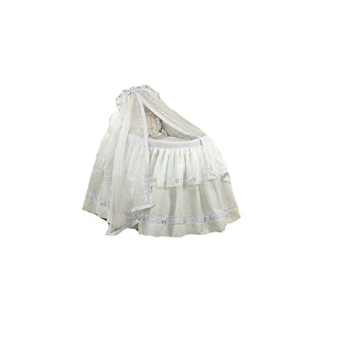 BabyDoll Baby Regal Bassinet Liner & Hood, White Trimming, 16'' x 32'' by Baby Doll