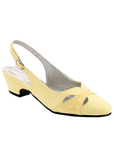 - AngelSteps Women's Adult Juniper Synthetic Pumps Shoes Dress Shoes 11 Medium US Women/Yellow