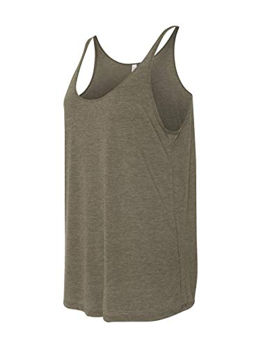 BE LADIES SLOUCHY TANK, HEATHER OLIVE, S
