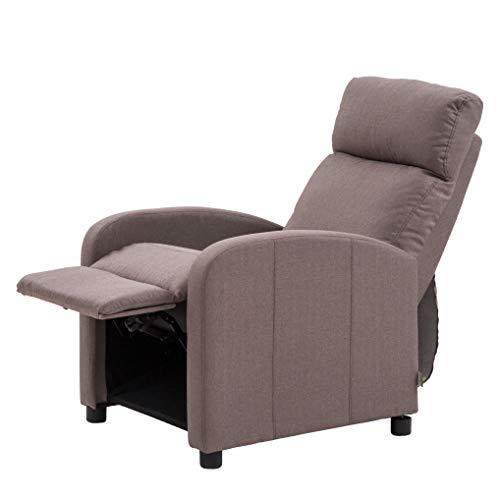 Italian concept Poltrona relax reclinabile con struttura in legno e metallo tubolare