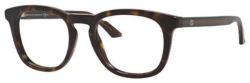 GUCCI 0M7V Dark Havana Eyeglasses