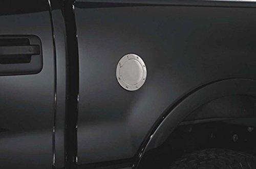 R&L Racing Chrome Gas Door Cover Aluminum Fuel Cap Lock Key 2009-2018 for Dodge Ram 1500 2500 3500