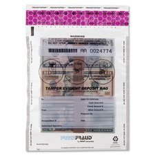 Freezfraud Deposit Bags, 9''''x12'''', 100/BX, Clear, Sold as 1 Box, 100 Each per Box by MMF Industries