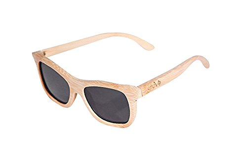 Grove Eyewear 100% Bamboo Sunglasses, 400 HD Polarized Lens, They - Sunnies Polarized