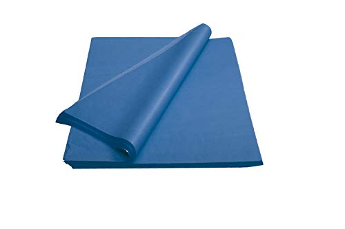Crown 480 Sheets Bulk Pack Drak Blue Tissue Paper Gift Wrap – Ream of Paper – 20 inch. x 30 inch. Wrapping Tissue Paper – for Scrapbooking Paper, Art n Crafts, Wrapping Christmas Gifts and More!!