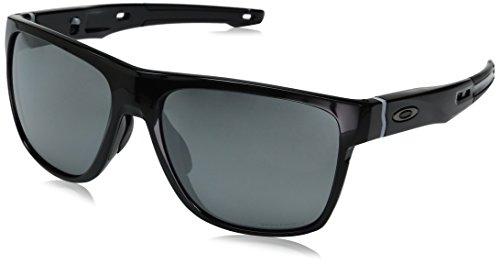 (Oakley Men's Crossrange XL Iridium Square Sunglasses, Polished w/Prizm Black Polarized, 58 mm)