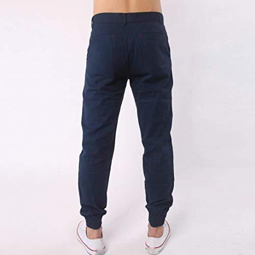 Bolsillos Marine Battercake Pantalones Para Sólidos De Botón Casuales Hombres Colores Cómodo Deportivos Con 4PpwfTq