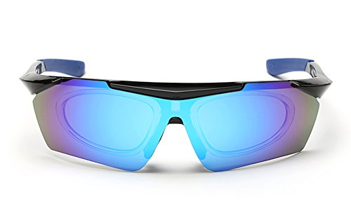 Staryy New Cycling Golf Fishing Sports Polarized Sunglasses (black blue, - Vineyard Vines Strap Sunglass