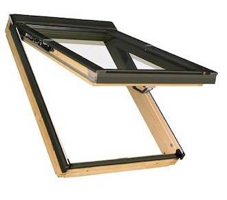 FAKRO FPP Klapp//Schwingfenster Holz FPP-V U3 mit Dauerl/üftung und EDR f/ür Dachziegel 78 x 98