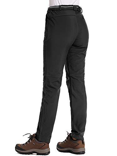Asfixiado Womens Snow Ski Fleece Lined Waterproof Soft Shell Insulated Pants Winter Hiking Camping Travel Fishing