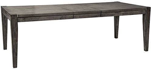 Modern Extension Dining Table - Ashley Furniture Signature Design - Chadoni Dining Room Table - Separate Extension Leaf Included - Contemporary - Smoky Gray Finish