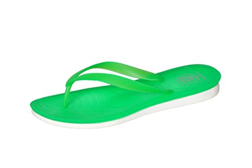 Price comparison product image Isadora Womans New Thong Beach Sandal Slippers in 4 Neon Bright Fun Colors (9
