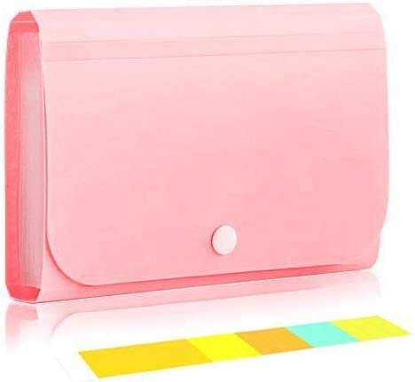 Amazon Com Izbuy Expanding File Folder 12 Pockets Subdivision Accordion File Folder Mini Organizer Pp Wallet For Cards Coupons Receipt Tax Changes 7x4 5 Inches With Tabs And Snapper Pink 5561 Home Kitchen