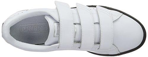 02 Sneakers Basses Puma White Basket amp;w Mixte B Blanc Black Adulte Puma Classic puma Strap C6qXqYw