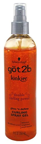 got2b Kinkier Curling Spray Gel-9 oz