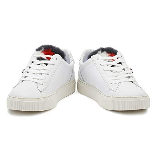 Tommy Basket Femmes Hilfiger White Blanc Fur Star Funny q1Tqrp6