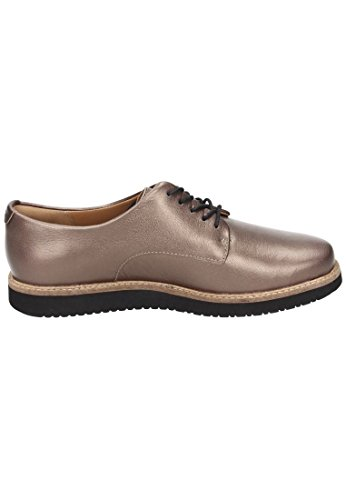 Clarks Glick Darby, Derby para Mujer plata