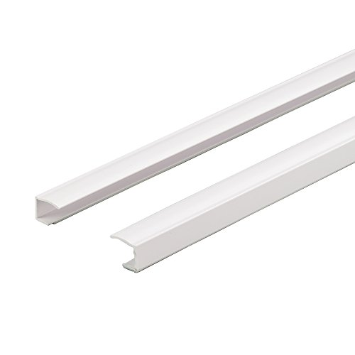 Liedeco Seitenschiene, Führungsschiene für Klemmfix-Rollos   individuell kürzbar, selbstklebend   L 150 cm   2 Stück
