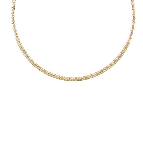 Collier Femme Or Jaune - Maille Haricot
