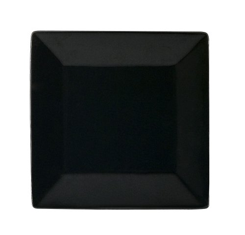 - CAC China KC-16-BLK Color Arts 10-Inch Stoneware Square Plate, Black, Box of 12
